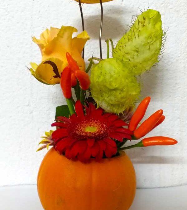 Compositions florales du mois d'octobre 2018